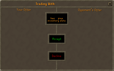Trading system ui