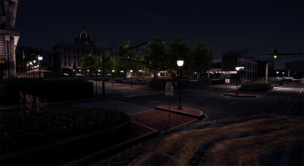 Town Square night