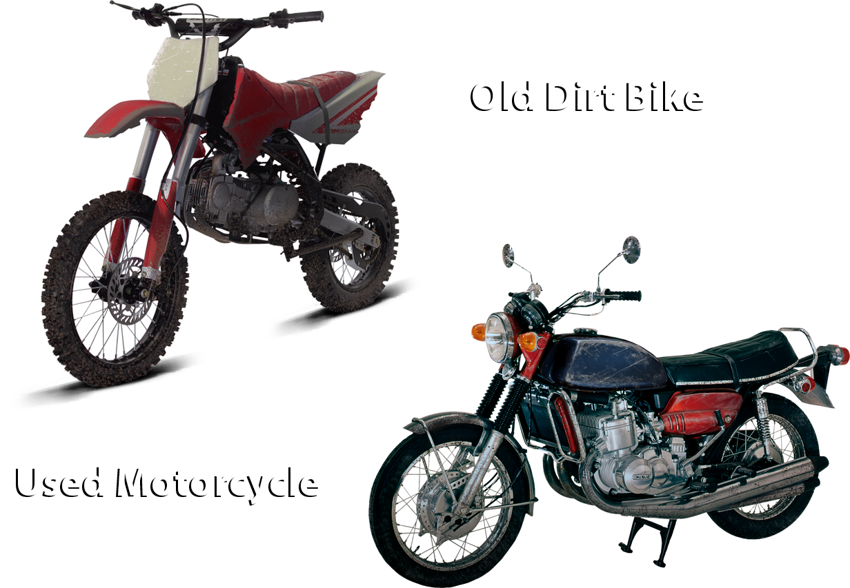 Old Dirt Bike and Used Motorcycle Concepts